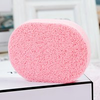 Wholesale Pink Rose essence Square Sponge All Natural Korean Facial Sponge with Activated Bamboo Charcoa for Women
