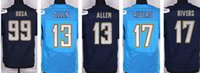 Cheap 2016 Elite American San Diego Football jerseys Chargers 99 Bosa 13 Allen 17 Rivers soccer jerseys man size free drop shipping