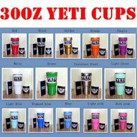Wholesale THE BEST Christmas Gifts oz Yeti Rambler Tumbler Cup Coolers Powder Coated Bilayer Vacuum Insulation Cup Yeti Tumbler Mugs