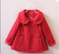 Wholesale 2016 new brand winter autumn kid baby clothing fashion outwear girl coats and jackets solid trench coat thicken kids jacket T