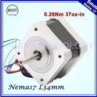 Wholesale Nema17 stepper motor Oz in A mH Nm CNC machine D printer Nema Lead wires