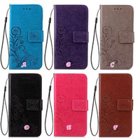 bags imprinted - For MOTO Z Force G4 G4PLUS Plus Fashion Lucky Clover Flower Wallet Leather Flip Cover Case Skin Bag Card Slot imprint TPU Stand Holder Pouch