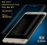 Wholesale 0 MM Galaxy S6 edge S7 S7 Edge Full Screen Protector Tempered Glass S6 edge Plus Cover Curved Screen Protector With Retail Box