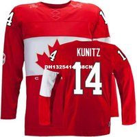 Cheap Retro throwback #14 CHRIS KUNITZ Team Canada Jersey OLYMPIC HOCKEY Fast free shipping Customize any size player name number