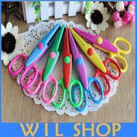 Wholesale DHL Decorative Paper Edger Sewing Scissors Scrapbooking Crafts Album Photos DIY for Family Decorates