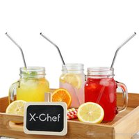 Wholesale DHL Stainless Steel Straw Steel Drinking Straws Reusable Metal Drinking Straw Bar Drinks Party