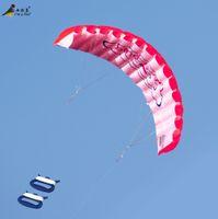 beach unit - utdoor Fun Sports Kites Accessories Outdoor Fun Sports Power Dual Line Stunt Parafoil Parachute Rainbow Sports Beach Kite F