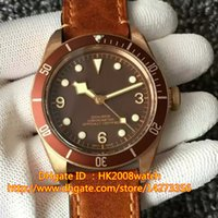 age stainless steel - Luxury AAAAA High Quality Herie Black Bay Bronze BM ETA2824 Automatic Mens Watch Brown Dial Aged Leather Strap