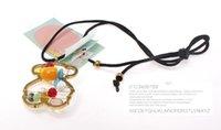Wholesale European Style Fashion Hollow Out Colour Rose Gold Bear Pendant Earrings Necklace Suit Titanium Jewelry Manufacturer