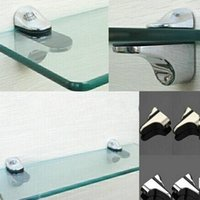 adjustable shelf brackets for glass - 2PCS Set Adjustable Metal Shelf Holder Bracket Support For Glass or Wood Shelves