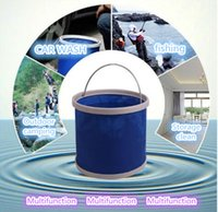 Wholesale Family outings clean washing tools storing children s toys small portable folding bucket bucket Almighty exclusively for