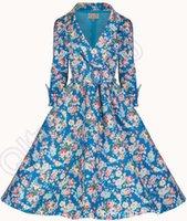 adults fashion overcoat - LJJL146 Fashion Women Long Dust Overcoat Trench Coat Retro Floral Print Long Dress Retro Printing Long Coat Dress PC