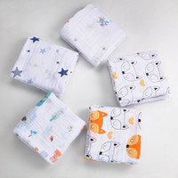 Wholesale Hottest Cute Baby Newborn Towels Ins Fox Cartoon Muslin Swaddle Blanket Baby Kids Robes Drop Shopping