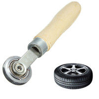 auto tire tubes - Car Truck Handle Wooden Tyre Tire Repair Tube Patch Stitch Wheel Roller Puncture Tool For Auto Bike Scooter