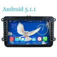 Wholesale Quad Core Android5 Car DVD Player GPS Car Radio Tape For VW PASSAT CC Golf Tiguan Touran Jetta Caddy Sharan