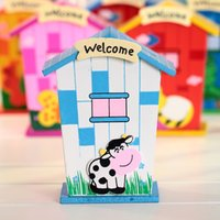 banking articles - New Arrival House modelling piggy bank Students gift desk wooden crafts that occupy the home furnishing articles Money Box