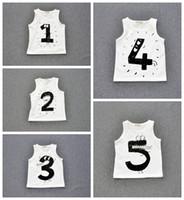 Wholesale 10styles Baby cute audel vest Kids girl boy cotton cartoon number vest gray white colors styles choose