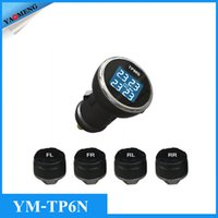 automotive alarm systems - YAOMENG YM TP6N Wireless Remote Tire Alarm System Car TPMS Tire Pressure Monitoring Intelligent System Wireless LED Display DIY