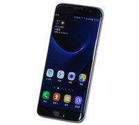 Metal S7 Edge Clon Quad Core 5,5 pulgadas de los teléfonos celulares de la cámara 1 GB Sistema Android 4 GB de RAM libre de DHL de envío