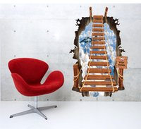 airplane print fabric - high quality Creative Personality D Scaling Ladder SKY Airplane Living Room Decor Waterproof Bedroom Wall Sticker