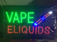 Wholesale 2016 New arriving super bright led open sign neon sign board open indoor Vape E liquid sign