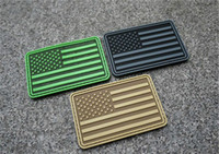 badge military - VP D PVC Rubber USA FLAG Patches TSNK Military PVC Patch Tactical patches badge Tactical Forest Morale Patch sew on patch