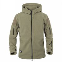 Wholesale Winter Tactical Jacket Military Uniform Outdoor Soft Shell Fleece Hoody Jacket Men Thermal Hunting Clothing Casual Hoodies