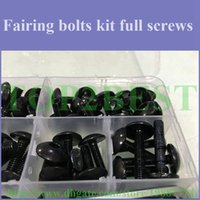 aftermarket gsxr fairings - Motorcycle body Fairing screw bolts kit for SUZUKI GSXR K5 GSXR1000 black fairings aftermarket bolt screws set