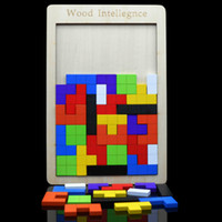 Wholesale Color Wooden Russian Block Wood Tetris Puzzle Toy for Children Kid Learning Intelligence Toys Christams Gift Birthday Gifts