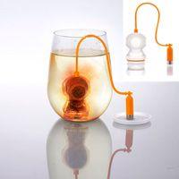 Wholesale Deep Tea Diver Tea Infuser Scuba Diving Herbal Loose Leaf Silicone Filter Tea Strainer Tea Tools