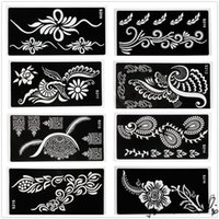 Wholesale Hot Sale PVC Body Art Decal Temporary Tattoo Template Stencil Airbrush Print Model Sample x cm