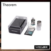 top brand - Wismec Theorem RTA Atomizer Jaybo Designed Top Filling Optional Atomizer Tube and Airflow Control Rings Brand new Notch Coil Original