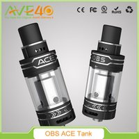 ace electronics - 2016 Original OBS ACE RBA Tank Newest Arrival Electronic Cigarettes Starter Side Filling Atomizer Ceramic Coil OBS