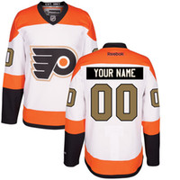Wholesale 2016 Customized Men s Philadelphia Flyers custom Any Name Any Number Ice Hockey Jersey Authentic Jersey Stitched Accept Mix Ord size S XL