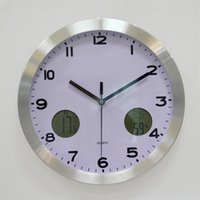 Wholesale Multifunction diy wall clock insert thermometer and Hygrometer decorating living room office and waiting room for