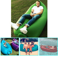 beach bag accessories - Fast Inflatable Camping Sofa banana Sleeping Lazy Chair Bag Nylon Hangout Air Beach Bed chair Couch