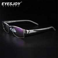 Wholesale EYESJOY Pure Titanium Glasses Frame Brands for Men Women Myopia Eyeglasses Full Frame Prescription Clear Lens Glasses EJ371