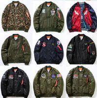 Wholesale 2016 NEW MA1 Bomber Jacket Insignia USAF Kanye West Hip Hop Sport Male Windbreaker Jacket Flag Mens Spring Thin section Jacket Various Style