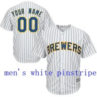 Wholesale Baseball jersey Milwaukee Brewers Custom jersey Personalized jersey any name any number name number Stitched