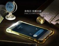 Wholesale Lightning LED flash Transparent iPhone Plus S Plus case TPU Bumper Protective Case Shock Dispersion Tech Silicone Slim Cover