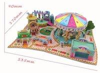 amusement parks children - 3D Paper Puzzle Buildings Baby Educational Toys for Children Amusement Park XY