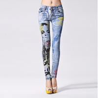 Wholesale Cotton Skinny Printed Blue Jeans Woman Denim Pants Boyfriend Jeans For Women Ladies Jean Femme pantalones vaqueros mujer