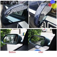 auto weatherstrip - 2 PVC Car Rear view Mirror sticker rain eyebrow weatherstrip auto mirror Rain Shield shade cover protector guard