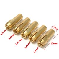 Wholesale 25pcs set Brass Gold Collet Bits For Dremel Grinder Rotary Tools mm For Dremel Grinder Rotary Tools