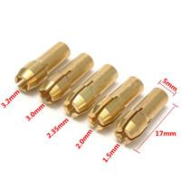 Wholesale 25pcs set Brass Gold Collet Bits For Dremel Grinder Rotary Tools mm For Dremel Grinder Rotary Tools
