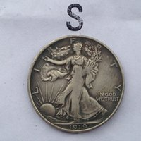 antique s - USA Walking Liberty half dollar Coin S Crafts pieces bale Factory Price nice home Accessories Silver Coins
