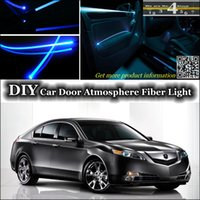 acura tl door - DIY interior Ambient Light Tuning Atmosphere Fiber Optic Band Lights Cool EL Light For Acura TL Door Panel illumination Refit