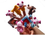 big bad toys - 80pcs Cartoon fairy tale The Three Little Pigs and the Big Bad Wolf Finger Puppet Finger toy set of