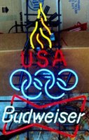 beer olympics - Hot Budweiser Olympic Torch Neon Sign Handmade Custom Real Glass Tube Store Beer Bar KTV Club Advertising Display Neon Signs quot X25 quot