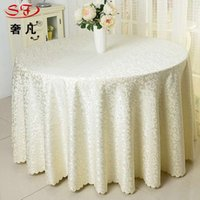 Wholesale UPS OR FEDEX New Solid Color Table Cloth Round cm Hotel Party Wedding Tablecloth Colors